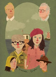 Moonrise Kingdom (2012) ~ Alternative Movie Poster by Barry Lee #amusementphile