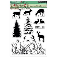 "Penny Black Clear Stamps 5""X7.5"" Sheet-Nature's Friends: Amazon.co.uk: Kitchen & Home"