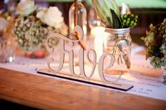 Laser cut table numbers are beautiful features