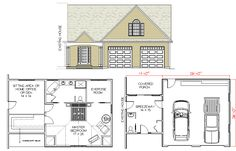 Garage with master bedroom plans by house calls inc for Room addition plans free