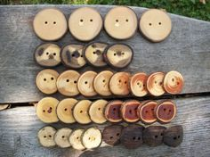 Wooden Button Variety Pack 32 Buttons 8 Wood by PymatuningCrafts, $19.25