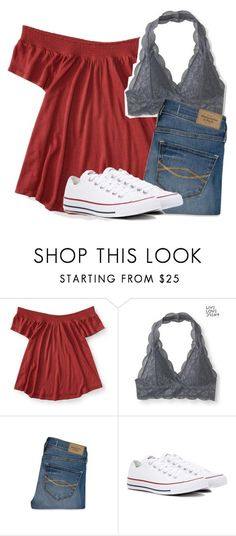 """Untitled #2838"" by laurenatria11 ❤ liked on Polyvore featuring Aéropostale, Abercrombie & Fitch and Converse"