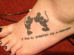 """My Disney tattoo """"It Was All Started By a Mouse"""""""