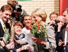Princess Diana visiting the Children of St. Mary's Intensive Care Unit, St Mary's Hospital, Paddington, London in 1997