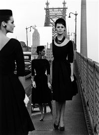 Anne St. Marie + Isabella + Mirror,... by William Klein