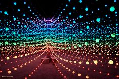 """""""The Big Round Cubatron"""", by Mark Lottor, was a large 3D array of computer-controlled ping-pong ball size lights."""