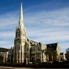 The beautiful architecture of the NG Church (replica of Salisbury Cathedral, England) - Graaff Reinet, Eastern Cape Church Architecture, Beautiful Architecture, Salisbury Cathedral, Take Me To Church, Cathedral Church, Church Building, Holiday Accommodation, Place Of Worship, Travel Planner