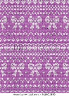 knitted seamless kids pattern with bow