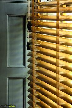 Luxury metallic gold venetian window blinds.