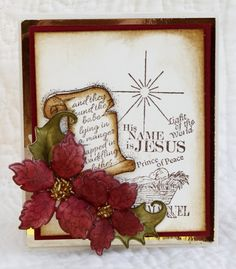Heartfelt Creations Joy to the World Cling Stamp Set