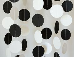 black and white paper decorations - Google Search