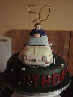 50th Birthday Fiat 500 Novelty Cake made by #CakeyCake