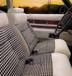 1975 Cadillac Eldorado available Houndstooth cloth & leather interior.