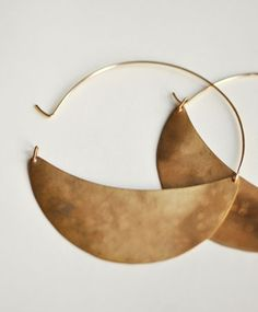 XL Crescent Hoops by Lila Rice