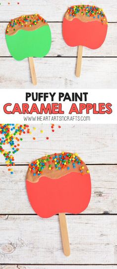 Puffy Paint Caramel Apple Craft For Kids - I Heart Arts n Crafts, . - Fall Crafts For Kids - Puffy Paint Caramel Apple Craft For Kids – I Heart Arts n Crafts, - Easy Fall Crafts, Fall Crafts For Kids, Summer Crafts, Projects For Kids, Art For Kids, Craft Kids, Apple Crafts For Preschoolers, Kids Diy, Fall Art For Toddlers