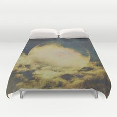 Buy ultra soft microfiber Duvet Covers featuring Golden moon by HappyMelvin. Hand sewn and meticulously crafted, these lightweight Duvet Cover vividly feature your favorite designs with a soft white reverse side.