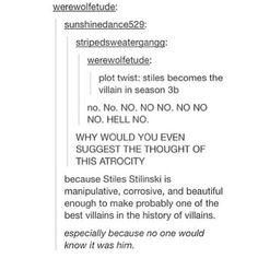 Evil Stiles // Tumblr // Teen Wolf
