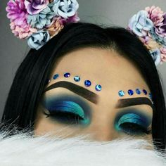 teal + blue glam | makeup // pinterest: joiespooks