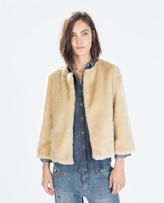ZARA - WOMAN - SHORT FUR JACKET