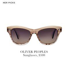 Oliver Peoples' feminine, retroSofee Sunglasses($380).