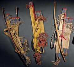 Колчан, лук и стрелы, Сиу. Период 1880. Binoche et giquello, декабрь 2011.