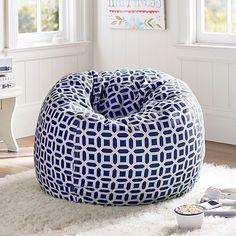 "Navy Peyton Beanbag ""oversized"" slipcover - pottery barn teen ( for the playroom)"