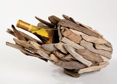 Driftwood Wine Bottle Holder $44 (I'm going to make my own)