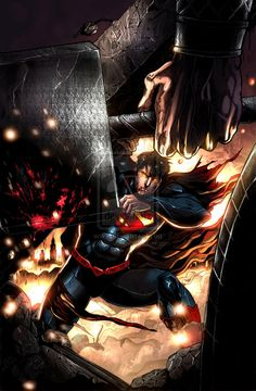 Superman VS. Thor Colored by jey2dworld.deviantart.com on @deviantART
