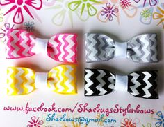 Chevron bow tie bows by Shaebugs on Etsy, $8.00
