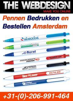 #TheWebDesign Bieden de beste en kwaliteit #penprinting diensten in Amsterdam. Bezoek: Printing Services, Amsterdam, Office Supplies, Prints, Stationery