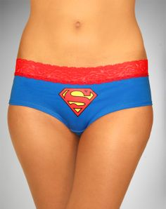 Supergirl Lace Trim Boyshorts  $7.99