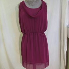 GONE 2017🆕Collective Concepts>silky sheer ds NWOT Dark fuchsia dress with sheer detail at neckline, shoulders and hem. Silky feel with elastic waistband, fully lined. 100% poly. TTS. Great for work under a fitted jacket or wear alone for a date night. Just never ended up wearing it, so in perfect condition. PRICE FIRM NO OFFERS PLEASE Collective Concepts Dresses