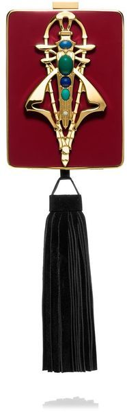 TORY BURCH Red Adele Resin Minaudière  - Lyst