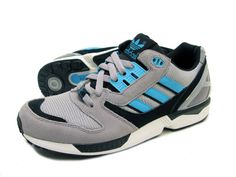 fda0019688572 ZX 8000 ADIDAS ORIGINALS TRAINERS FOR MEN IN ALUMIN SAMBLU WHTVA - Footwear  - MelMorgan Sports