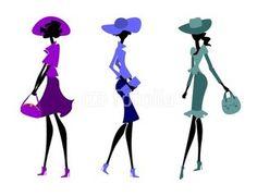 Три девушки в ретро костюмах