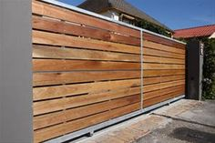 Automated driveway gates security gates by MS Metal Works Driveway Landscaping, Driveway Gate, Fence Gate, Fences, House Gate Design, Fence Design, Entrance Gates, Front Gates, Garage Gate