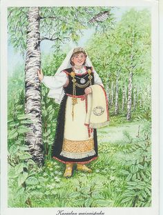 Finland - traditional costume: 1100