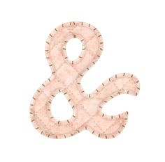 Alfabeto Rosa con Puntadas.