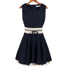 Women's Splicing Color Ruffle Mini Dress
