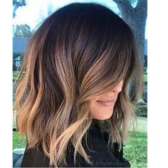 Brown Hair Balayage, Brown Blonde Hair, Hair Color Balayage, Light Brown Hair, Hair Highlights, Color Highlights, Brunette Balayage Hair Short, Chunky Highlights, Balayage Brunette Short