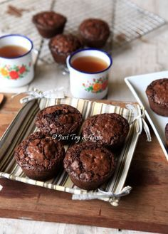 Brownie Cupcakes, Cake Cookies, Brownie Recipes, Cake Recipes, Resep Cake, Curry, Fudgy Brownies, Muffin, Food And Drink