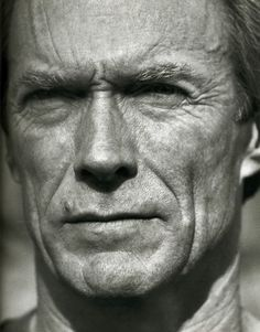 Clint Eastwood by Herb Ritts (Am./LA Jew fashion photographer b. 2002 due pneumonia & HIV+) (b&w portraits in classical Greek sculpture emphasized human shape) photo Richard Gere, then Brooke Shields & Olivia NJ for album Physical) Celebrity Photography, Celebrity Portraits, Life Photography, Portrait Photography, Clint Eastwood, Black And White Portraits, Black And White Photography, Don Corleone, Photo Star