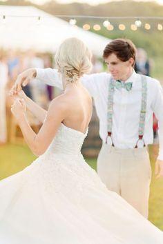 Wedding in suspenders