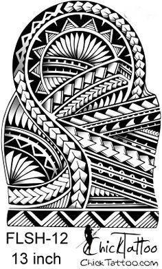 Polynesian Style 1/2 Sleeve Flash Design