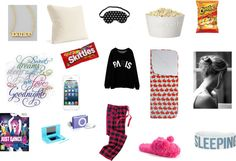 """""""Sleepover Time"""" by kimberly-283 on Polyvore"""