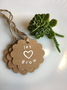Set of 20 Handmade Let Love Grow Wedding by PonderosaPartyFavors