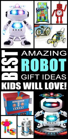Robot gift ideas! Find fun robot gifts for boys and girls. This is the ultimate robot gift guide that kids, teens, tweens, friends and adults will love. You can always DIY your gifts but shopping for robot products is so cool. Get awesome birthday gifts or Christmas gifts for the robot lover in your life.