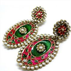 Indian Clothes, Indian Outfits, Beauty Full, Jewellery Box, Indian Jewelry, Fashion Earrings, Indian Fashion, Bracelet Watch, Ethnic