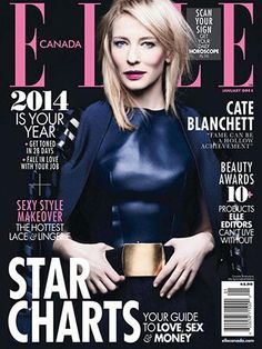 Cate Blanchett Elle Canada January 2014