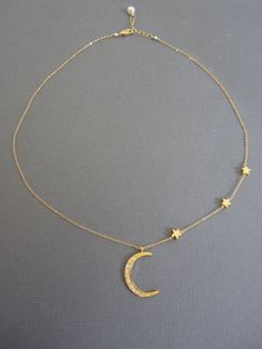 I love you to the moon and back Gold crescent Moon by Muse411